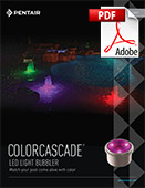 Colorcascade LED Light Bubbler Brochure