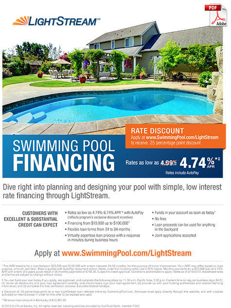 Financing options o 39 fallon missouri mo for Pool financing