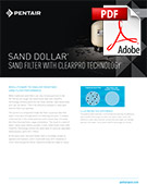 Sand Dollar Sand Filter with ClearPro Technology Brochure